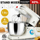 7QT 660W Pro Tilt Head Stand Mixer 6Speed Electric Kitchen Stainless Steel Bowl
