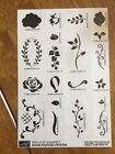Stampin Up Hand Painted Petites Rubber Stamp Set 1999 Mostly Unmounted Scrolls