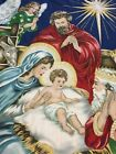 Quilted Nativity Scene Birth of Jesus Christmas Holiday Quilt Throw Wall Hanging