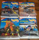4 HotWheels Action Pack Police forcefire fightingRacingSojourner Mars Rover