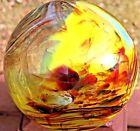 Rare Collectible ART GLASS Museum Quality Orb Ball on Platform Signed STEINER