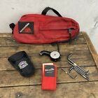 VINTAGE CANNONDALE BAG USA Red Under Seat 3 Pocket + Topeak Power 15 Tools B1