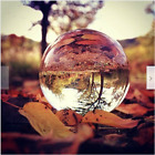 80mm colorful crystal ball paperweight glass sphere transparent Photography Deco