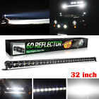 Slim 14 20 25 32 38 44 50 Led Light Bar Single Row Slim Off Road Driving Atv Suv