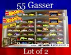 Hot Wheels 55 Chevy Gasser 50 Car Display Case LOT OF 2 New 2020 IN STOCK