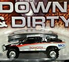 Hot Wheels Toyota Pickup Truck Down  Dirty Offroad 4x4 Lifted Race 3 4 RRs Wht
