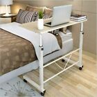 Office Laptop Desk Rolling Adjustable Portable Table Cart Computer Mobile Stand