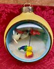 1980 Hallmark A Christmas Tree Panorama Ball Ornament Snoopy Woodstock Window GC