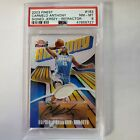 2003-04 Topps Finest Refractor AUTO Jersey Carmelo Anthony 250 RC PSA 8 LOW POP