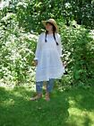 The Rush Of Wings OOAK Upcycled Edwardian Embroidered Eyelet Dress Tunic OS