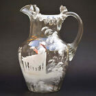 Spectacular Fenton Antique Mary Gregory Ruffled  Fluted Hand Blown Pitcher
