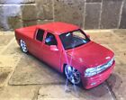 124 scale diecast 2002 Chevrolet Silverado by Jada Dub version in red