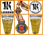 1K Legends Medal  Pint Glass Combo 1000 Miles Engraved Beer Pint Glass