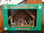 Vintage KMART Nativity Set With 10 Figures Plus Stable Manger Creche in Box