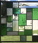 Contemporary Beveled Stained Glass Window Panel Hanging 10 X 10 1 2