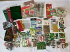LOT of CHRISTMAS CRAFTS Scrapbooking Gift Tags Decorations MINIATURES nativity
