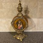 Nativity Scene Inside An Open Free Standing Table Top Ornament Amber And Gold
