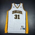 100% Authentic Reggie Miller Adidas Soul Pacers Jersey Size XL 48 Mens