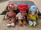 Rasta Mouse,Scratchy&Zoomer TY Beanies (Played with/used toys, read description