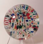 LOVELY  Vintage Edward Rithner DONT FORGET YOUR FATHER Art Glass Paperweight