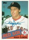 2020 TOPPS ARCHIVES ROGER CLEMENS ORIGINAL AUTOGRAPH SIGNATURE #181 RED SOX 6 11