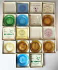 Lot Of 9 Vintage PAIRPOINT Collector Cup Plates 1980S With Boxes  Papers