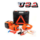 12V 5Ton Car Electric Jack Hydraulic Floor Jack Impact Wrench 45cm Inflator Pump