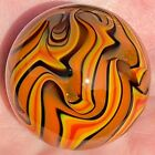 Hot House Glass flame twist Dichroic banded swirl marble 148 38mm 52