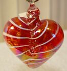 Cupid Red Heart Limited Edition Ornament by Glass Eye Studio Made USA 1214OAS 2