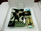 Peggy Karr Fused Glass Mediterranean Plate Signed 10 Square MIB w paperwork