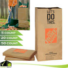 Heavy Duty Paper Lawn and Leaf Bags 30 Gallon Brown 5 20 50 Count Yard Waste