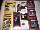 Superman Collectibles:USPS Labels + Ornaments + Lives! Audiobook+ Postcards+ Pin