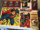 Superman Collectibles:Postcards/Pin/5 Hallmark Keepsake Ornaments/Washcloth/Bags