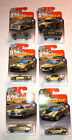 6 Matchbox 50th Anniversary Gold SuperFast BMW Mercedes Hudson Seagrave SET