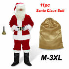 Santa Claus Costume Adult Suit Christmas Outfit Fancy Dress