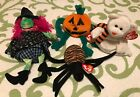 4 Halloween Beanie Babies: SPINNER PUMKIN SCARY QUIVERS