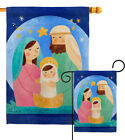 Nativity Jesus Garden Flag Winter Small Decorative Gift Yard House Banner