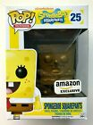 HTF Funko Pop Spongebob Squarepants GOLD #25 Amazon Exclusive w STICKER Vaulted