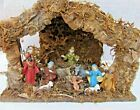 Vintage Italian Nativity set 1972 Hand Painted 1972 Manger NEW Made in Italy