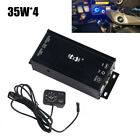35W x4 Scooter 12V Audio Amplifier MP3 Player FM Radio Booster Bluetooth USB AUX