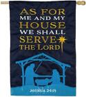 As for Me and My House Nativity Applique House Flag High Quality NEW