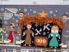 Birds Of A Feather BF222 JOYOUS CHRSTMAS Nativity 13 Ct Handpainted Ndlpt Canvas