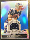 2010 Bowman sterling rob Gronkowski rookie refractor 99 jersey + 2010 Absolute
