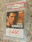 2010 Topps UFC Series 4 Red Ink 1st Auto - CHAEL SONNEN 12 15 - PSA 9 - Rookie