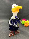 Handmade bald eagle glass tobacco pipe By Bluejay Glass