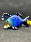 Handmade Anglerfish Glow In The Dark glass tobacco pipe By Bluejay Glass