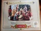 2002 Grandeur Noel Nativity Christmas Porcelain FigurineComplete Set 9 pieces