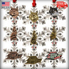 Pewter Wolf Snowflake Christmas Tree Ornaments 12 Options Made in the USA