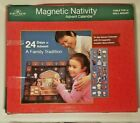 Kurt S Adler Magnetic Nativity Advent Calendar 24 Day Table Top or Wall Mount