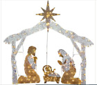 55 Christmas Nativity Scene Outdoor Lighted Clear Lights Yard Holiday Decor